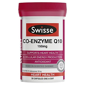 Swisse Ultiboost Co-Enzyme Q10 150mg 50 Capsules