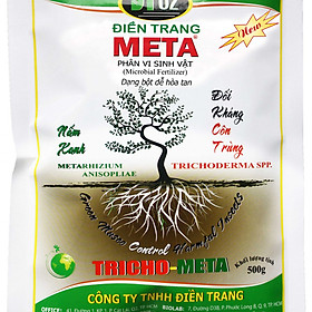 Hình đại diện sản phẩm Nấm xanh Metarhizium anisopliae đối kháng côn trùng, bảo vệ bộ rễ (ĐIỀN TRANG TRICHO META 500G)