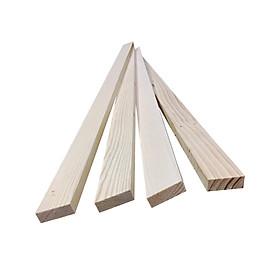 Bó 4 thanh gỗ thông dài 1m, rộng 4cm, dày 1.4cm dùng làm khung sườn, trang trí, decored nhà cửa