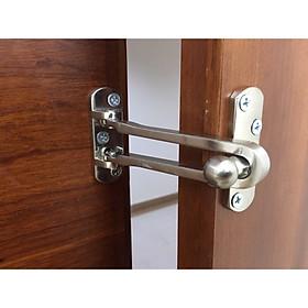 Chốt an toàn mở hé cửa inox 304 đúc dày 1cm