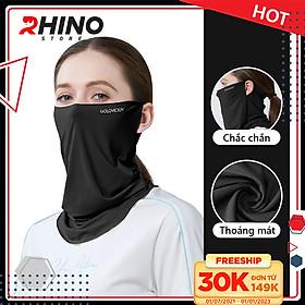 Khẩu trang băng lụa chống nắng cao cấp Rhino S202, khẩu trang nam nữ, chống tia UV, chống bụi, UPF50+, Hàng chính hãng
