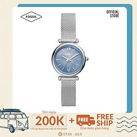 Đồng hồ nữ Fossil Carlie Mini ES5083 dây thép không gỉ - màu bạc