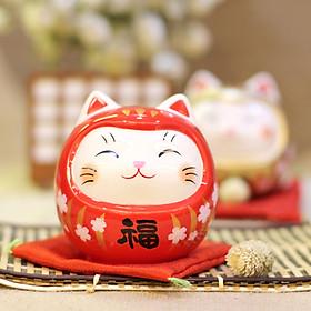 Mèo Thần tài Daruma Yakushigama cỡ nhỏ 9cm (giá 1 Mèo)