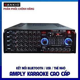 Amply Bluetooth SANKIO SK 8800 - Ampli EQ 16 sò lớn, 2 quạt gió, 4 tụ nguồn lớn - Hàng chính hãng cao cấp
