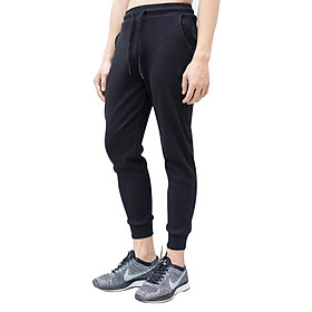 Quần Jogger Lót Nỉ Nam Panda QNNA-01 - Đen (Free Size)