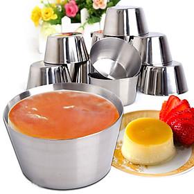 Combo 5 Khuôn Làm Bánh Inox 304 ( 7cm ) Làm Bánh Flan, Rau Câu, Cupcake, Làm Đá Không Gỉ