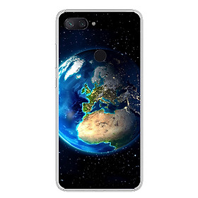 Ốp lưng dẻo cho điện thoại Xiaomi Mi 8 Lite - 0246 EARTH - Hàng Chính Hãng