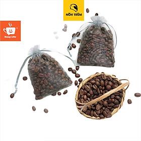 Túi thơm cà phê nguyên chất Message Coffee làm thơm và khử mùi cốp xe máy, xe hơi, tủ lạnh và tủ quần áo 30-50gr