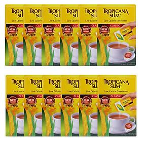 Combo 12 Hộp Đường Ăn Kiêng Tropicana Slim Low Calorie Sweetener Classic (50  x 2g)