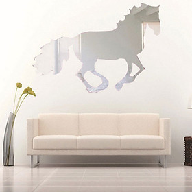 Gương 3D Dán Tường DIY Hình Con Ngựa