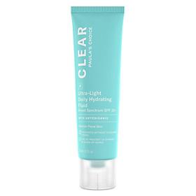 Kem dưỡng da chống nắng dành cho da mụn Paula's Choice Clear Ultra-Light Daily Hydrating Fluid SPF 30 fullsize 60ml