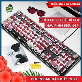 Bàn Phím CƠ Máy Tính XSmart Lipstick K520 PRO LED Đổi Màu, Bản Đặc Biệt Siêu Đẹp, Trục cơ blue switch cho pc, laptop - Hàng Chính Hãng