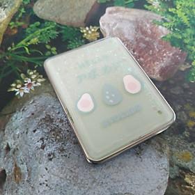 Gương Soi Mini 2 Mặt Bỏ Túi Phối Kim Tuyến Hình Avocado