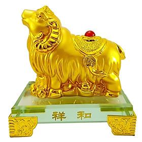 Tượng 12 Con Giáp Mạ Vàng Đế Kính