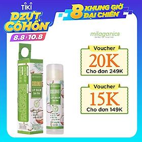 Son Dưỡng Môi Dừa Milaganics 4.5g