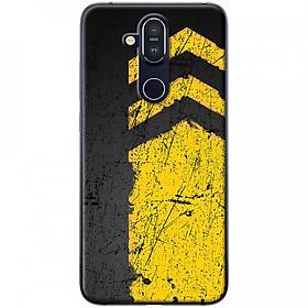 Ốp lưng dành cho Nokia 8.1 mẫu Sọc vàng nền đen