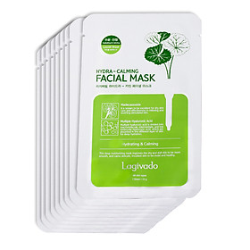 Combo 9 Mặt nạ dưỡng ẩm trắng da giúp kiềm dầu và mụn Hàn Quốc Lagivado Hydra Calming Facial Mask 23g/miếng