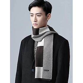 Khăn choàng nam cao cấp thời trang Hàn Quốc màu nâu dn19121516