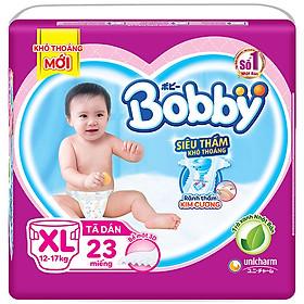 Tã Dán Siêu Thấm Khô Thoáng Bobby XL23 (23 miếng)