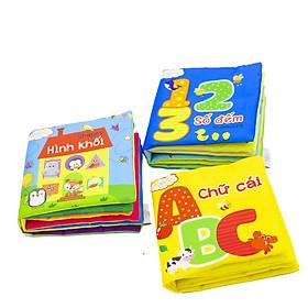 Combo 3 cuốn sách Lalala baby (chủ đề Hình khối, Chữ cái, Số đếm) mde in Vietnam