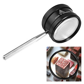 Magnifying Glass 35X Handheld Reading Magnifier Non-Slip Handle for Reading