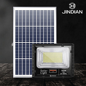 [MẪU MỚI] Đèn Năng Lượng Mặt Trời 300W JINDIAN JD8300L- Hàng Chính Hãng có Logo JINDIAN