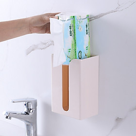 Hộp đựng khăn giấy dán tường tiện dụng - màu ngẫu nhiên