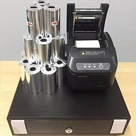 Trọn bộ 3 món TL04 gồm: Máy in K80 + Két thu ngân + Giấy in bill ( Hàng nhập khẩu)