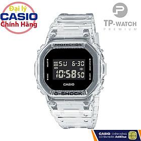 Đồng Hồ Nam Casio G-Shock DW-5600SKE-7DR Chính Hãng | Casio G-Shock DW-5600SKE-7D Transparent Pack Dây Nhựa
