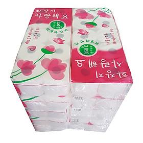 Cây giấy vệ sinh Hàn Quốc 2 lớp (100 cuộn) - 500g/ lốc (10 cuộn)