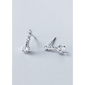 Bông Tai Nữ   Bông Tai Nữ Bạc S925 Đính Đá B2493 - Bảo Ngọc Jewelry