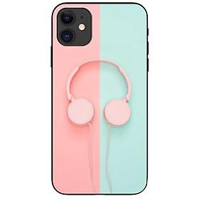 Ốp lưng dành cho Iphone 12 Mini Tai Nghe Hai Màu