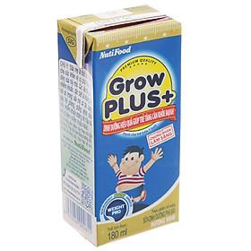 Thùng 48 Hộp x 180ml Sữa Bột Pha Sẵn GrowPLUS+ Xanh 180ml Tăng Cân Khoẻ Mạnh - Hàng Chính Hãng