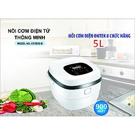 Nồi cơm điện thông minh OnTek CFXB50-B đa năng, với 8 chức năng ưu Việt, lòng nồi Niêu nấu cơm siêu ngon, Xách tay tiện lợi (màu trắng) - Hàng chính hãng