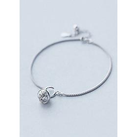Lắc Chân Bạc Nữ Gắn Chuông Thời Trang - Lắc Chân Hàn Quốc Nữ Gắn Charm LC1544 Bảo Ngọc Jewelry (Bạc s925 tinh khiết)