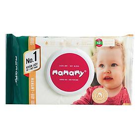 Combo 3 Gói Khăn Giấy Ướt 80 Tờ Không Mùi Kháng Khuẩn An Toàn Cho Bé Mamamy ( 80 Tờ Nắp x 3)-1