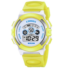 Đồng hồ trẻ em BÉ TRAI, BÉ GÁI COOBOS 0919 có đèn led 7 màu
