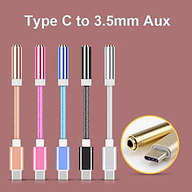 USB-C Type C Adapter Port to 3.5MM Aux Audio Jack Earphone Cable