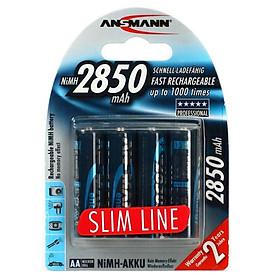 Pin Sạc 2850 Slim-US ANSMANN (Vỉ 4 Viên) - Hàng Nhập Khẩu