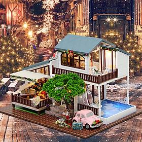 Nhà búp bê Ngôi nhà thu nhỏ lắp ghép London Chirstmass Holiday