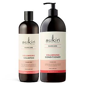 Combo gội xả làm dày tóc Sukin Volumising Shampoo 500ml & Sukin Volumising Conditioner 1000ml-0