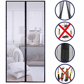 Hands Free Magnetic Screen Door Mesh Curtain Keeps Bugs Out Full Frame Magnets with Magic Tape Drill Free Install Auto
