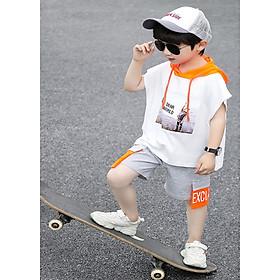 Bộ đồ bé trai, bộ quần áo bé trai cotton co dãn 4 chiều cao cấp QATEMC, size 8kg-:-25kg