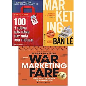 Bộ Sách Về Nghệ Bán Hàng Siêu Hạng (Gồm 3 Cuốn: 100 Ý Tưởng Bán Hàng Hay Nhất Mọi Thời Đại + Marketing Cho Bán Lẻ + Nghệ Thuật Dụng Binh Trong Marketing) Tặng Cây Viết Sapphire