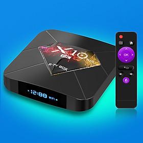 Android TV BOX RAM 4G, Bộ nhớ 32G, xem phim 6K, chơi game, hỗ trợ tính năng tìm kiếm bằng giọng nói mới nhất hiện nay X10 PLUS