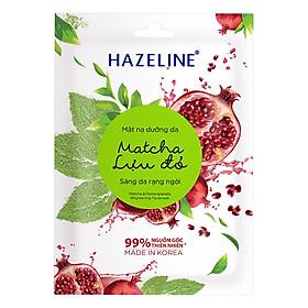 Mặt Nạ Dưỡng Trắng Hazeline Matcha & Lựu Đỏ