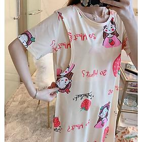 Váy ngủ bầu và sau sinh cho con bú ti (Sleepy) - Đầm bầu mặc nhà - Đồ ngủ bà bầu thời trang mùa hè Đẹp Giá Rẻ
