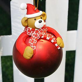 Bóng Treo Cây Thông Trang Trí Giáng Sinh Hình Santa Deer