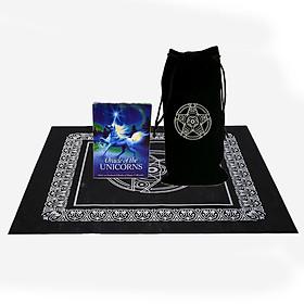 Combo Bộ Bài Bói Tarot Oracle of the Unicorns Cards Cao Cấp và Túi Nhung Đựng Tarot và Khăn Trải Bàn Tarot