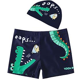 Combo quần + nón bơi cho bé hình cá sấu thoải mái ngộ nghĩnh Cleacco - Hàng chính hãng